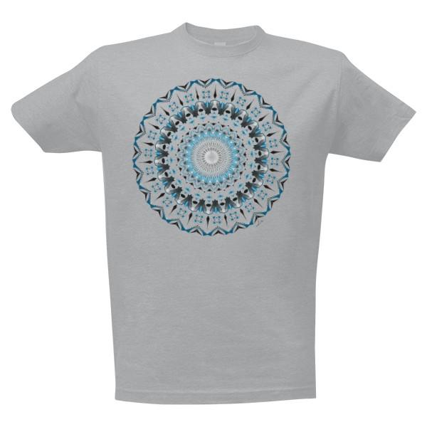 Tričko s potiskem modrá mandala klidu 6503d3a767