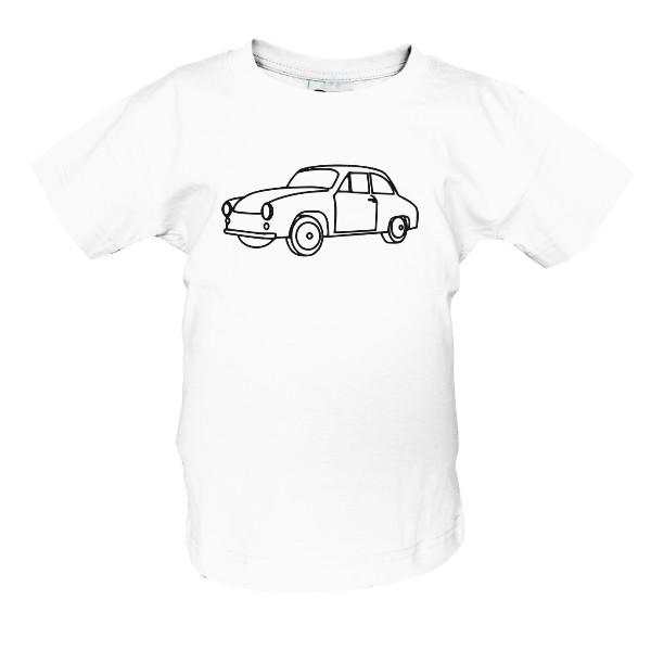 tričko s potiskem Moje auto dětské