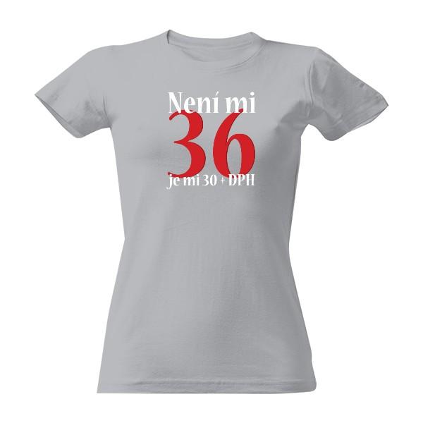 Tričko s potiskem Narozeninový věk+DPH 37f39c862f