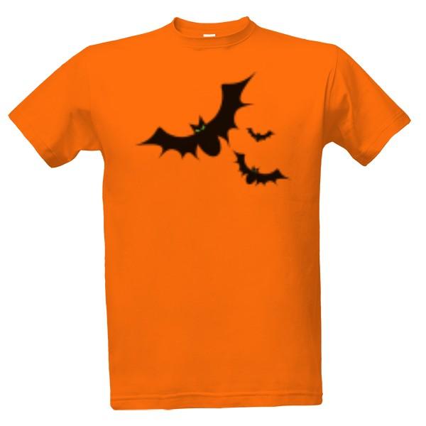 T-shock tričko s potiskem Netopýři pánské Oranžová S 44151926b4