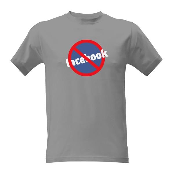 tričko s potiskem No Facebook pánské
