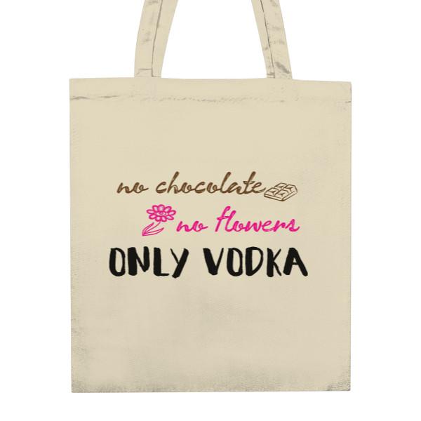 nákupní bavlněná taška s potiskem Only vodka