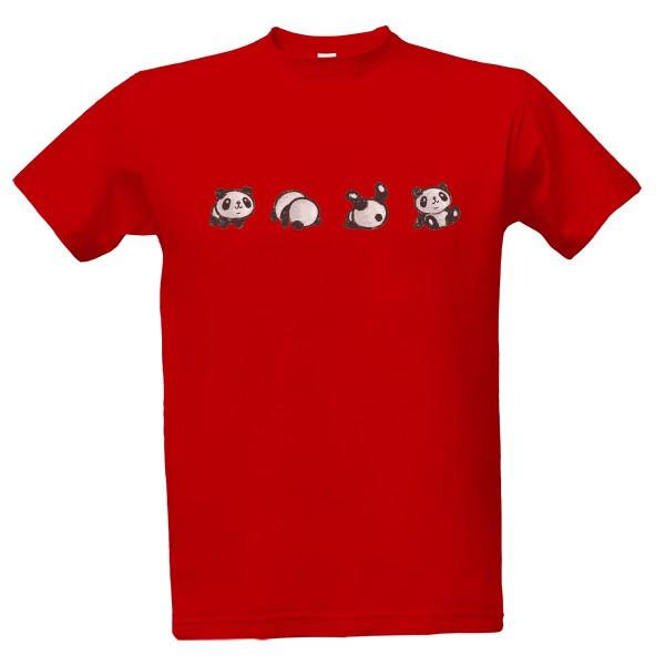 Tričko s potiskem Panda dělá kotoul 1355aa19ca