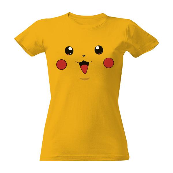 T-shock tričko s potiskem Pikachu dámské Zlatá S