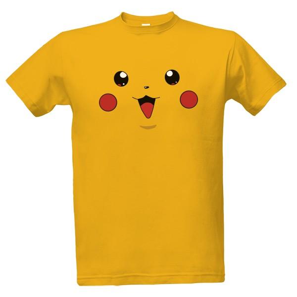 T-shock tričko s potiskem Pikachu pánské Zlatá M