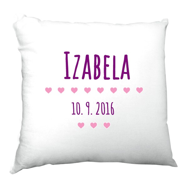 Pillow satin s potiskem Pillow with name