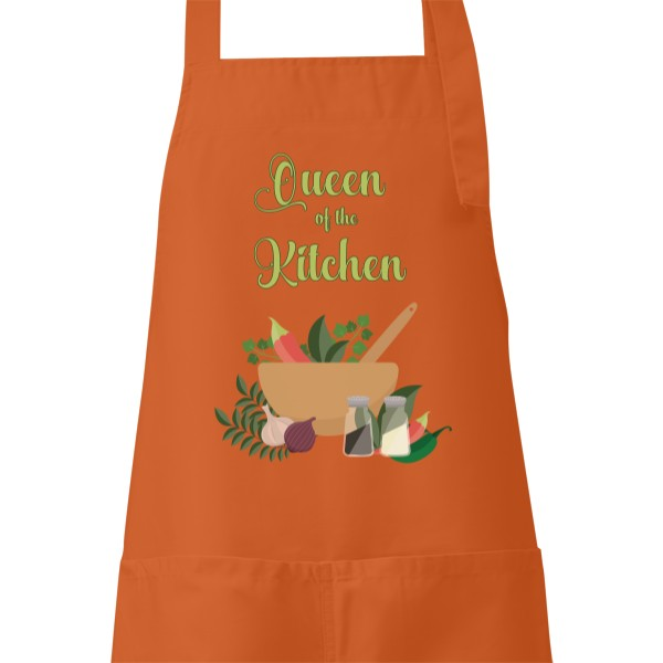 Apron s potiskem Queen of the kitchen