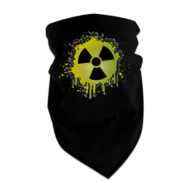 Cotton three-pointed scarf s potiskem Radioactive green