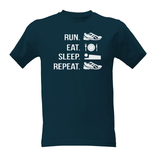 Tričko s potlačou Run eat sleep repeat