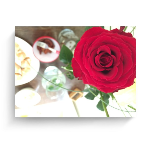 Photo Canvas 4:3 s potiskem Rose canvas
