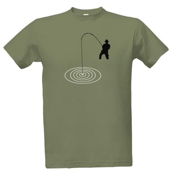 T-shock tričko s potiskem Rybář pánské Zinková S