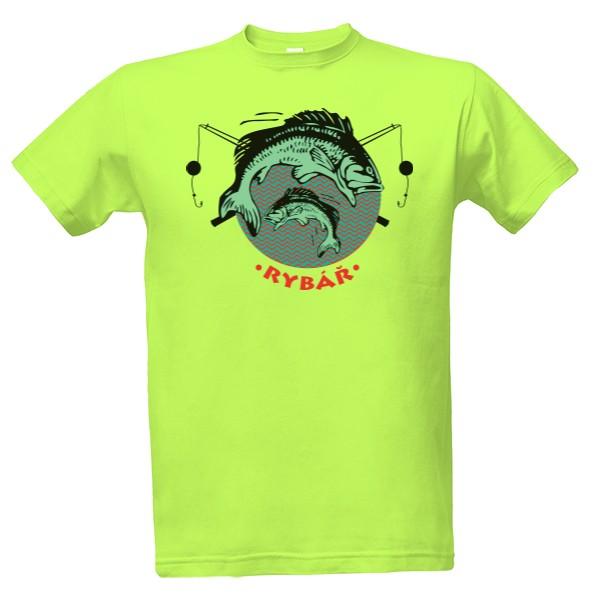 c7eae11ff53 T-shock tričko s potiskem Ryby pánské Green apple S