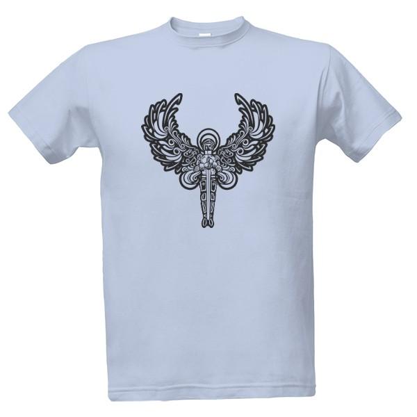 tričko s potiskem Rytíř anděl pánské