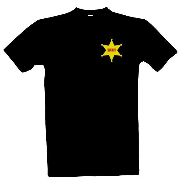 tričko s potiskem Sheriff pánské