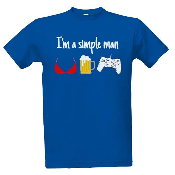 41271e535dc Tričko s potiskem simple man - gamer