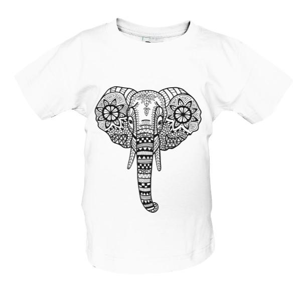 T-shock tričko s potiskem Slon dětské Bílá 86–94 f20cfe08bb