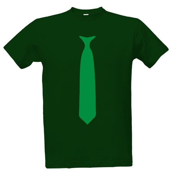 tričko s potiskem Společenské tričko zelená kravata pánské