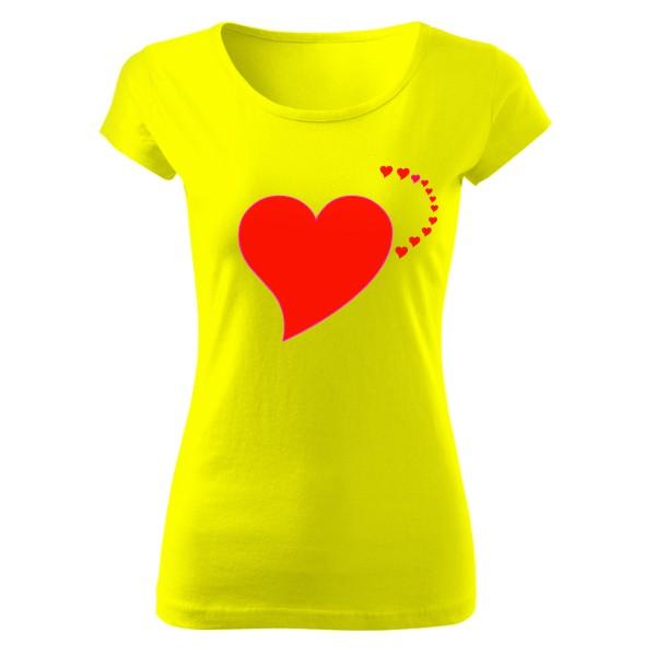 Tričko s potiskem Srdce se srdíčky  256d776a58