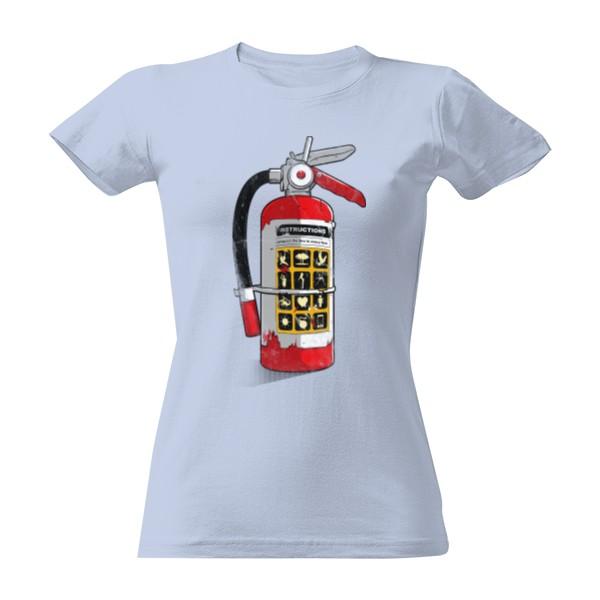4553aa8afda5 Tričko s potlačou Super hasičák - Dámské