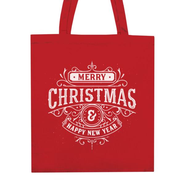 nákupní bavlněná taška s potiskem Taška na Vánoční dárky