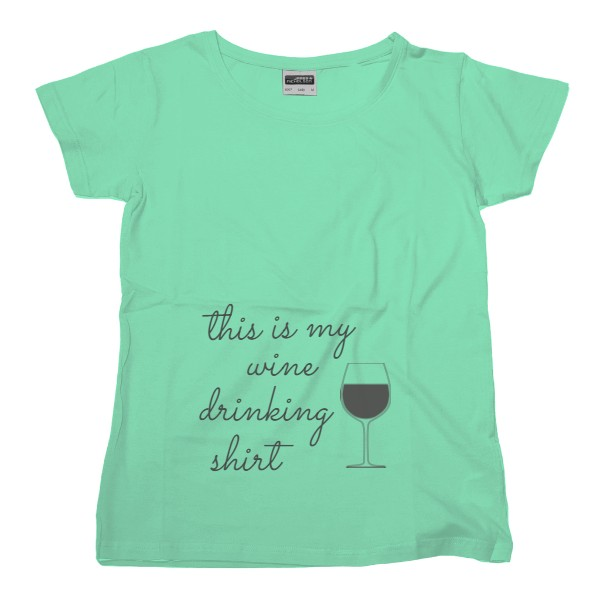 Tričko s potiskem this is my wine drinking shirt