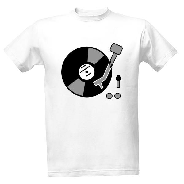Tričko s potiskem Tričko gramofon 1ebfb98a33