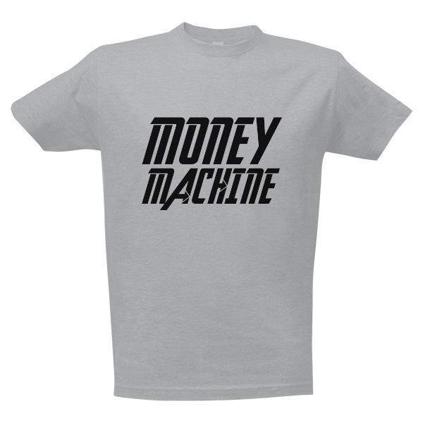 Tričko s potlačou Tričko Money Machine  4d53a0c3d1c