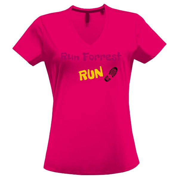 Tričko s potiskem Triko Run Forrest pink 65c65839e0