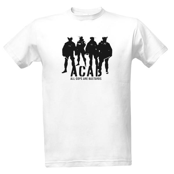 Tričko s potiskem ACAB - black logo c670b4196a