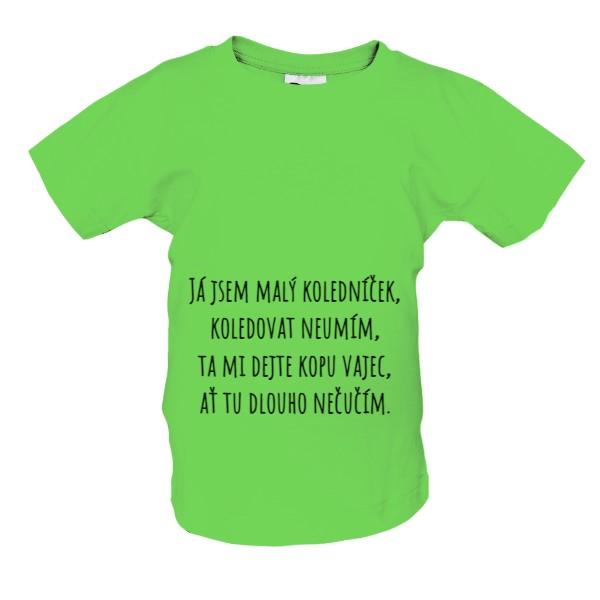 tričko s potiskem Velikonoce - koleda s kuřátkem dětské