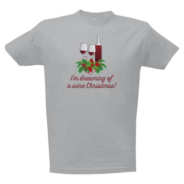 6dacea67b89 Tričko s potiskem wine christmas