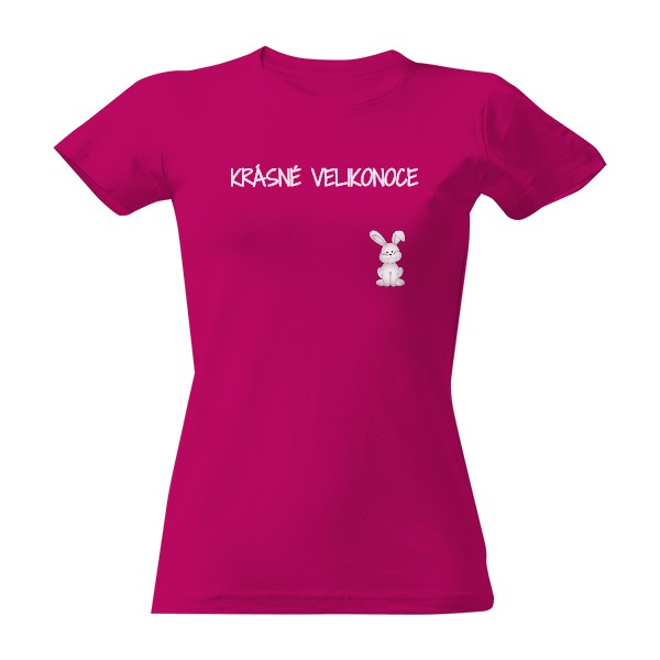 tričko s potiskem ZAJÍC VELIKONOCE dámské