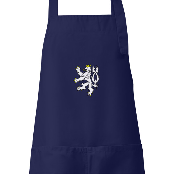 Apron s potiskem Apron for cooking and grilling with Czech Lion