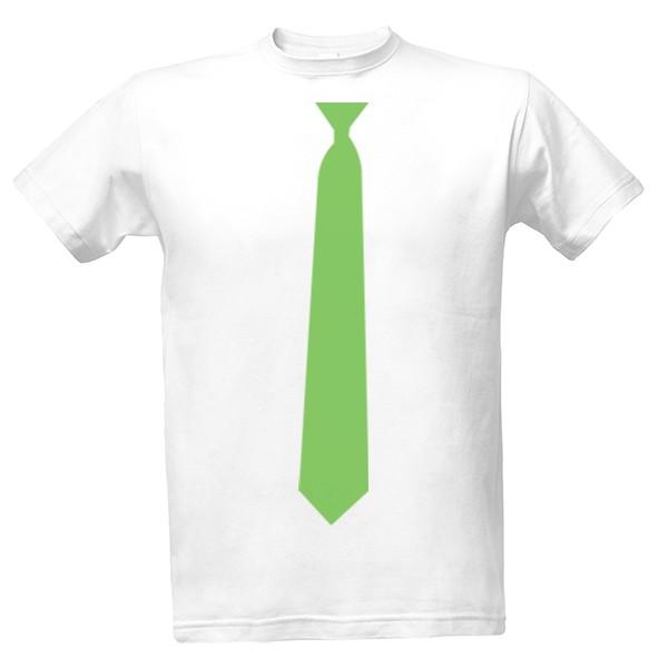 tričko s potiskem Zelená kravata pánské