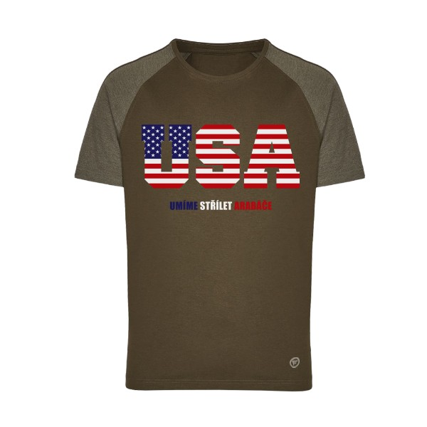 Tričko s potiskem Zkratka USA  59523077c8