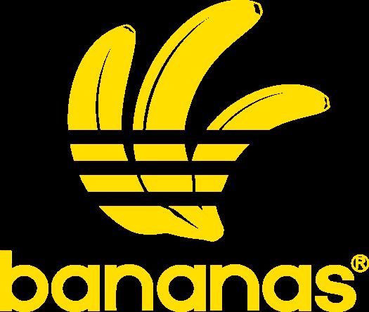 Pánská mikina s kapucí s potiskem Značkové Bananas  b70fc46392