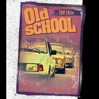 Tričko s potlačou Old School Low Crew  f3b143a9ad