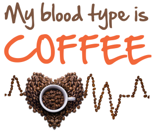 94a48536b2f6 Tričko s potiskem My blood type is coffee
